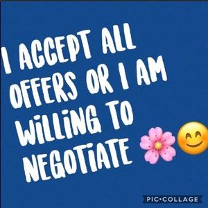 I accept offers or negotiate 💙